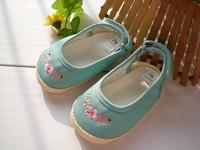 全新 MotherCare Mother Care 綠藍色 繡花布鞋 棉腳套 嬰兒鞋 防滑鞋 學步行鞋