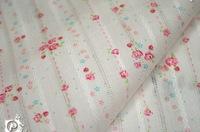 拼布手作布料 日本來料緹花棉布 玫瑰藤蔓