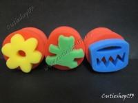 Cutieshop153 益智啟蒙玩具積木 ~學校教學 美術學生小手工DIY材料用具~印刷活動類兩面海綿印 /個#14091