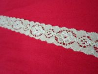 1.5cm杏色橡根花邊 蕾絲 lace(12吋)DIY 手工 材料