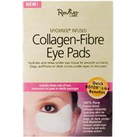 Reviva Labs, Collagen-Fiber Eye Pads, 3 Sets of Two Contoured Pads  100%純醫藥級膠原蛋白纖維眼膜(含芙蓉花提取物)3 對