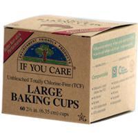 If You Care, Large Baking Cups, Unbleached, 60 Baking Cups, 2 1/2 in (6.35 cm) Each 不漂白防油烤紙杯