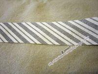 灰白斜紋包邊布/布條 DIY 手工 材料