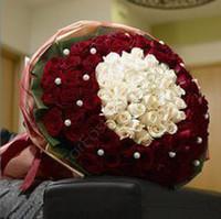 99枝紅白二色求婚玫瑰#A1013