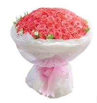 99 枝粉玫瑰求婚花束 #A51