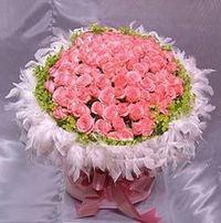 99枝粉玫瑰花束#A1020