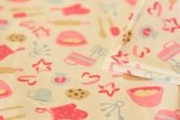 拼布手作片裝布料 超柔軟棉絨系列 甜蜜的烘焙