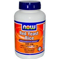 Now Foods, Red Yeast Rice, 600 mg with CoQ10, 30 mg, 120 VCaps