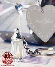 水晶奶樽匙扣  滿月擺酒/彌月/百日宴回禮小禮物