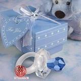 粉藍水晶奶咀 滿月擺酒/彌月/百日宴回禮小禮物