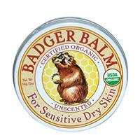 Badger- USDA Organic Balm, For Sensitive Dry Skin, Unscented, 2 oz/56 g 有機認證舒緩皮膚寶(無味)