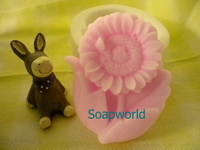 矽膠皂模 (向日葵) (補貨中) 手工皂模  擴香石模