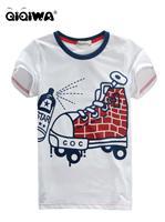 車仔圖案全棉中童T恤 4889