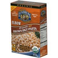 Lundberg, USDA Organic Brown Rice Elbow Pasta(Gluten Free), 340g/12oz 有機糙米通粉 4215