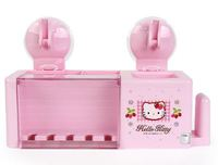 ㊣韓國 Sanrio Hello Kitty 吉蒂貓 吸勾牙刷架 浴室雜物架-A1款