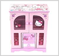 聖誕節禮物 Sanrio Hello Kitty 衣櫃型首飾木盒 精品 2945