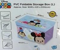 港版正品 訂貨照價9折 PVC Foldable Storage Box W49 x H31 × D33cm Disney Tsum Tsum 摺合儲物箱椅