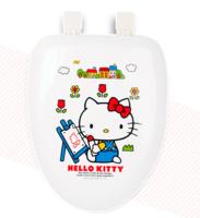㊣韓國SANRIO HELLO KITTY   加長硬坐廁板 廁所板 (455x355mm-A款)