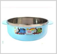 ㊣韓國Thomas & Friends 兒童不銹鋼餐具 保溫碗 保温飯碗 雙耳碗1069_2137
