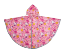 兒童用品 Sanrio Hello Kitty卡通 斗篷式兒童雨衣 雨褸有書包位 L碼7-8yrs 110-120cm_150617