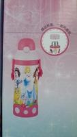 Disney Princess 兒童用品一壺二用吊帶保溫真空不鏽鋼壺 防漏 保冷 水壺 500ml_ 20170107