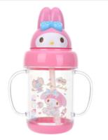 Sanrio My Melody 300ML BPA自造形雙耳學習高溫飲管膠水樽 $ 98.00 /070717