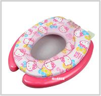 ㊣韓國 Sanrio Hello Kitty 子母廁所板 成人廁板+兒童學習坐廁板二合一C款(425x360mm)