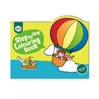 #2014 Step By Step Colouring Book Transportation ,   填色畫冊