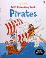 #1516 Usborne 填色+貼紙練習 PiratesColouring Book【填色畫冊】