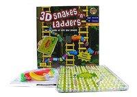 #1033 好玩3D立體蛇梯棋 Snakes Ladders,益智玩具