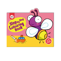 #2012 Step By Step Colouring Book  Initiate Course 3-4歲 , 填色畫冊