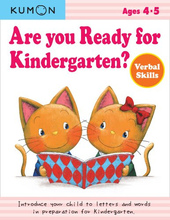 【售罄】#1428 KUMON 公文英文練習冊 Are you ready for Kindergarten Ages 4-5 (Verbal Skills)