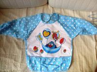 *微瑕疵*兒童飯衣(藍色) $12/1件 包郵