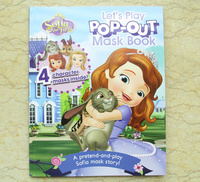 #1857 Disney Sofia The First , 蘇菲亞公主,Let's Play Pop-out Mask Book ,英文故事書【課外書】