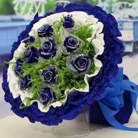 11枝藍色玫瑰花束#A1501010