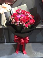 情人節19枝紅玫瑰花束 #AF201805