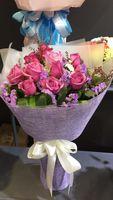 11枝紫玫瑰花束 #AF1835