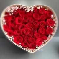 33朵紅玫瑰520花盒 #AF225