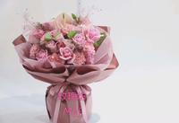 母親節12枝粉玫瑰+12枝康乃馨花束 #KM050