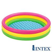 游泳用品 INTEX亮麗三色 充氣泳池(86CM X 25CM)
