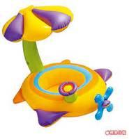 游泳用品 美國 INTEX 嬰兒花朵遮陽光充氣游泳圈56580