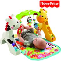 美國 Fisher-Price 歡樂動物音樂健身器