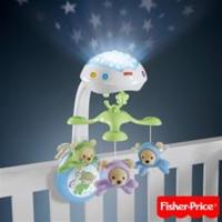 Fisher-Price 三合一投影小熊床鈴 (附遙控)