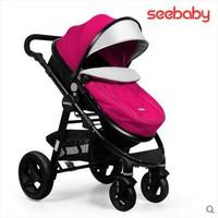 德國 Seebaby 可坐可躺 闊大車輪 可攜帶睡籃 高座位 輕便 可拆扶手 嬰幼兒手推車 bb車 9.9 kgs T18A