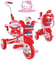 特價 正版 disney Hello Kitty 摺合 三輪車