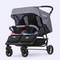 德國 Seebaby 雙初生座位嬰兒車 雙胞胎 可坐可躺 一秒收車 四輛避震 可拆扶手 嬰兒手推車 bb車 12.2 kgs T22