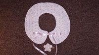 兒童裝飾圍領連頭飾 粉紅碎花