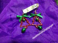手工材料 DIY 聖誕樹耳環 聖誕禮物