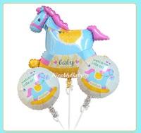 ★新貨★可愛BB款球束3個裝 百日宴滿月氣球佈置 氫氣球 包充氦氣 Baby Balloon Set(現貨)