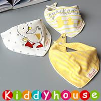 嬰兒用品~3片套裝三角嬰幼兒雙層口水肩 BB1350  現貨